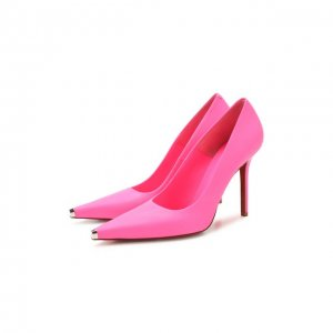 Кожаные туфли Vetements. Цвет: розовый