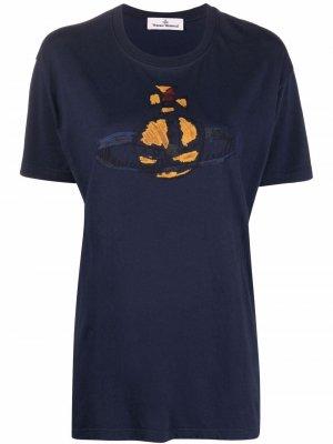 Футболка с принтом Orb Vivienne Westwood. Цвет: синий