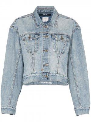 Укороченная джинсовая куртка Karma Ksubi. Цвет: синий