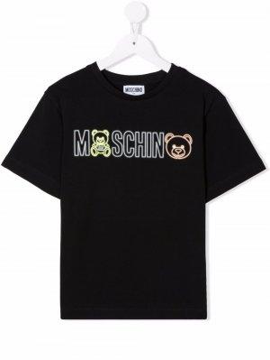 Logo-print cotton T-Shirt Moschino Kids. Цвет: черный
