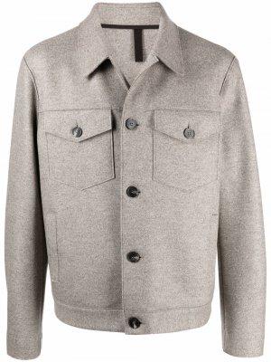 Фетровая шерстяная куртка Harris Wharf London. Цвет: нейтральные цвета