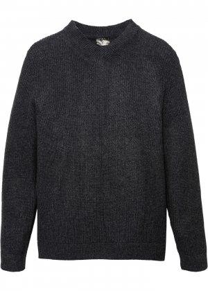 Пуловер bonprix. Цвет: серый