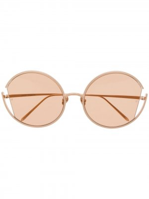 Солнцезащитные очки 851 C6 Linda Farrow. Цвет: золотистый