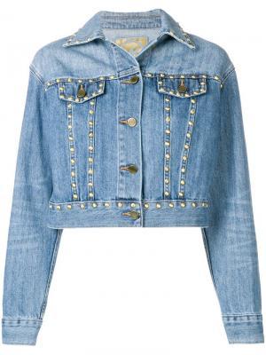 Джинсовая куртка с заклепками Michael Kors. Цвет: синий
