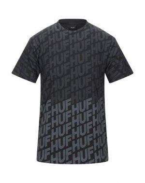 Футболка HUF. Цвет: черный