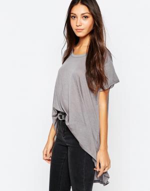 Асимметричная oversize-футболка LnA