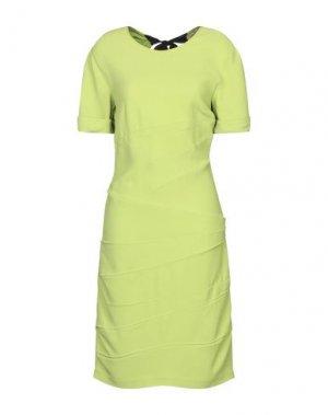 Платье до колена GILMAR. Цвет: кислотно-зеленый