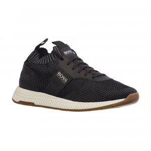 Кроссовки Titanium Running Inspired Sneakers in Knit HUGO BOSS