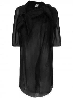 Пиджак Wishbone Rick Owens. Цвет: черный