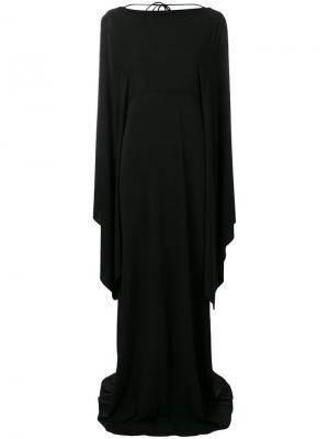 Длинное платье с рукавами в стилистике кейпа Alberta Ferretti