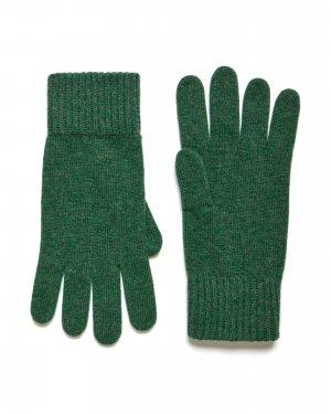 Шерстяные перчатки Benetton. Цвет: зеленый