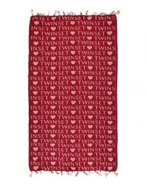 Пляжное полотенце TWINSET. Цвет: красно-коричневый