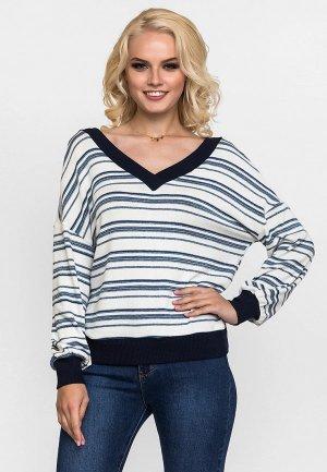Пуловер Gloss. Цвет: белый