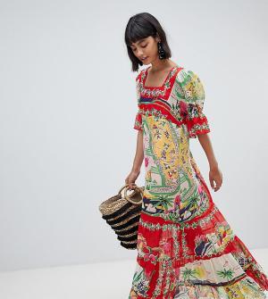 Эксклюзивное платье макси с принтом Anna Sui. Цвет: мульти