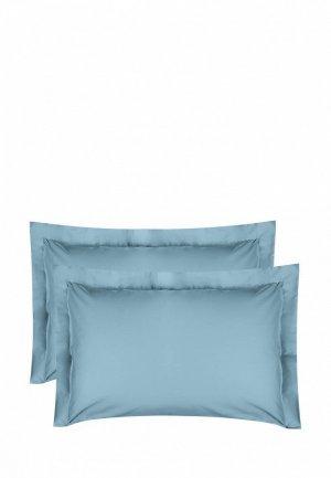 Комплект наволочек Bellehome Стефания Topaz, 50х70. Цвет: голубой
