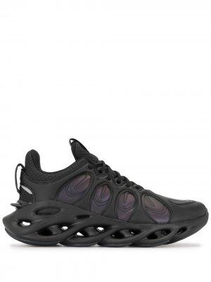 Кроссовки на шнуровке Li-Ning. Цвет: черный