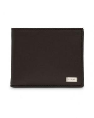 Бумажник LANCEL. Цвет: темно-коричневый