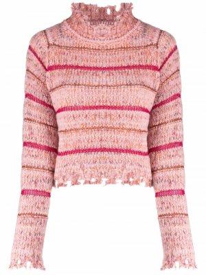 Striped knitted jumper Pinko. Цвет: розовый