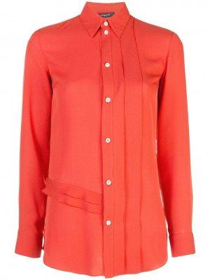 Блузка на пуговицах с длинными рукавами Derek Lam. Цвет: красный
