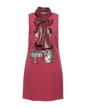 Короткое платье ELISABETTA FRANCHI. Цвет: красно-коричневый