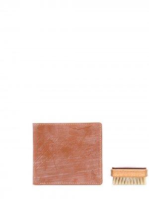 Кошелек с эффектом потертости Polo Ralph Lauren. Цвет: коричневый