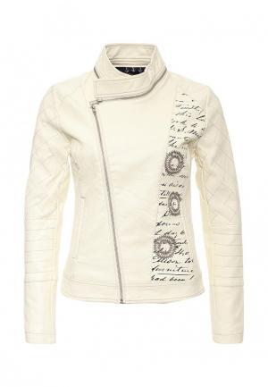 Куртка кожаная Desigual. Цвет: белый