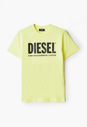 Футболка Diesel. Цвет: желтый