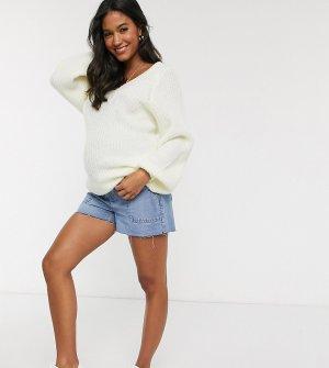 Джинсовые шорты для беременных Urban Bliss-Синий Bliss Maternity