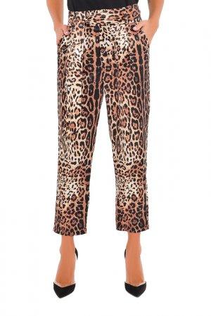 Брюки MONDIGO. Цвет: леопард, коричневый