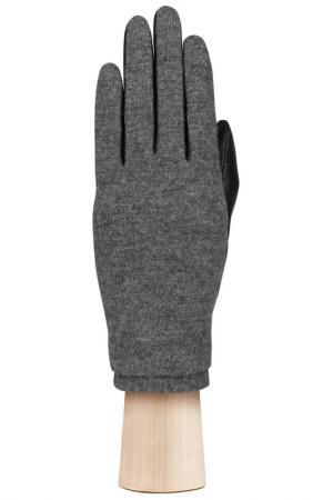 Перчатки Labbra. Цвет: черный, серый, шерсть, акрил