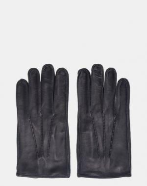 Перчатки JIL SANDER. Цвет: темно-синий