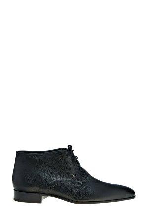 Ботинки-дезерты из крупнозернистой кожи с квадратным мыском ARTIOLI. Цвет: черный