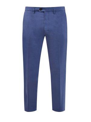 Базовые брюки-чинос из эластичного хлопка CANALI. Цвет: синий