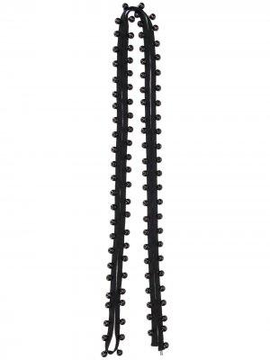 Ремешок с колокольчиками Ann Demeulemeester. Цвет: черный