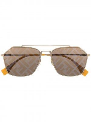 Солнцезащитные очки Eyeline FF Fendi Eyewear. Цвет: желтый
