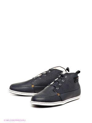 Ботинки HUB. Цвет: черный, белый