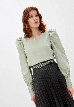 Блуза Ichi. Цвет: зеленый