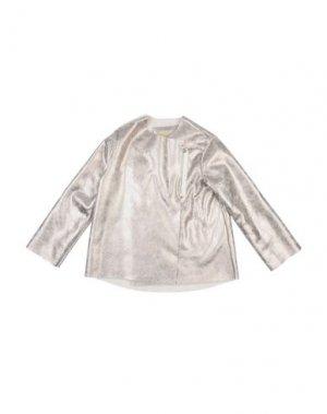 Пальто BISOUS. Цвет: светло-серый