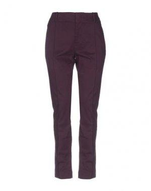 Повседневные брюки DANIELE ALESSANDRINI. Цвет: баклажанный
