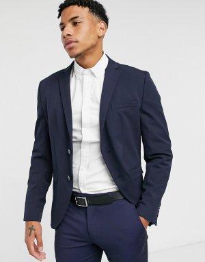 Темно-синий пиджак узкого кроя Selected Homme