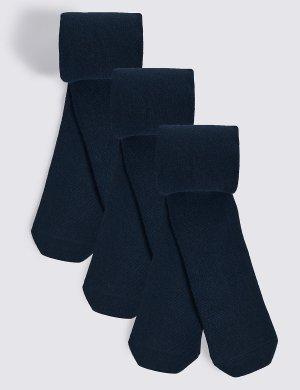 Плотные колготки Bodysensor™ для школы (3 пары) M&S Collection. Цвет: темно-синий