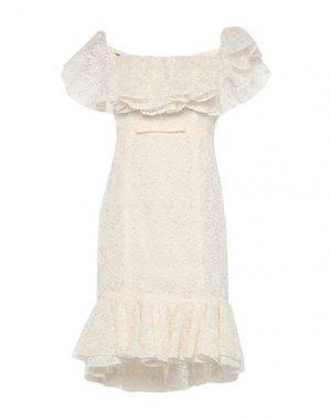 Короткое платье GIAMBATTISTA VALLI. Цвет: слоновая кость