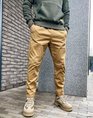 Бежевые базовые брюки с ремнем Caterpillar-Neutral Cat Footwear