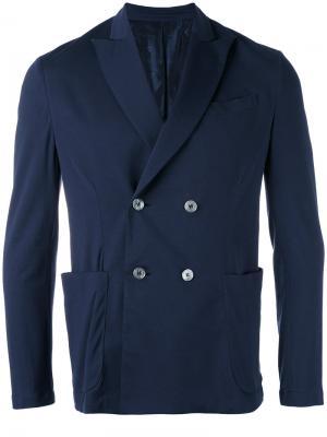 Трикотажный пиджак Cruciani. Цвет: синий