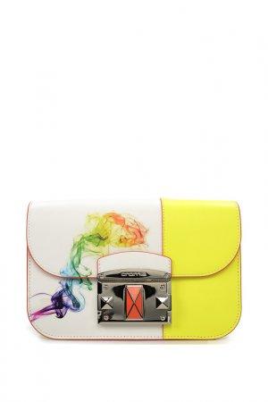 Сумка-клатч Cromia. Цвет: белый, мультиколор