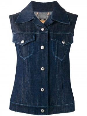 Джинсовая куртка без рукавов Chloé. Цвет: синий