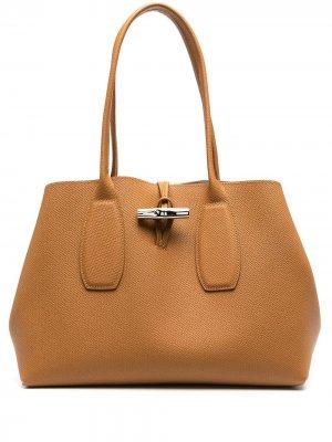 Сумка-тоут Roseau Longchamp. Цвет: коричневый