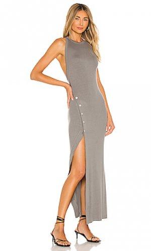 Макси платье beekman ALIX NYC. Цвет: серый
