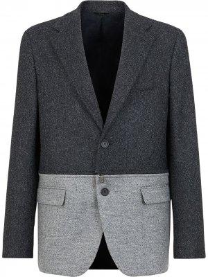 Твидовый пиджак Fendi. Цвет: серый