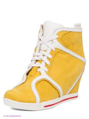 Сникеры LENA MILAN. Цвет: желтый, белый